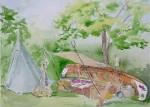 Commissioned Voyageur Camp - Lost Arts / John R Park Blueberry Festival.  Sold!