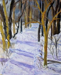 South Trail Head, Ojibway.  Plein Air 8 x 10 Oil on Ampersand Museum Series Gessoboard $250 Sale Pending
