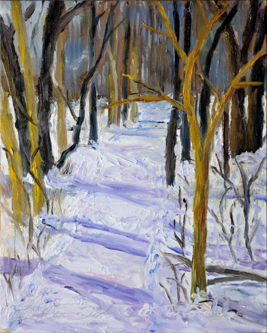 South Trail Head, Ojibway.  Plein Air 8 x 10 Oil on Ampersand Museum Series Gessoboard $250